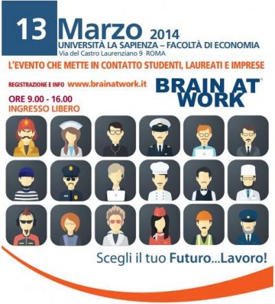 Locandina Brain At Work marzo 014